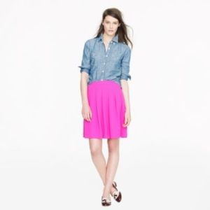 J CREW Hot Pink Pleated Skirt